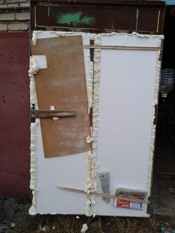 Утепление гаражных ворот пенопластом