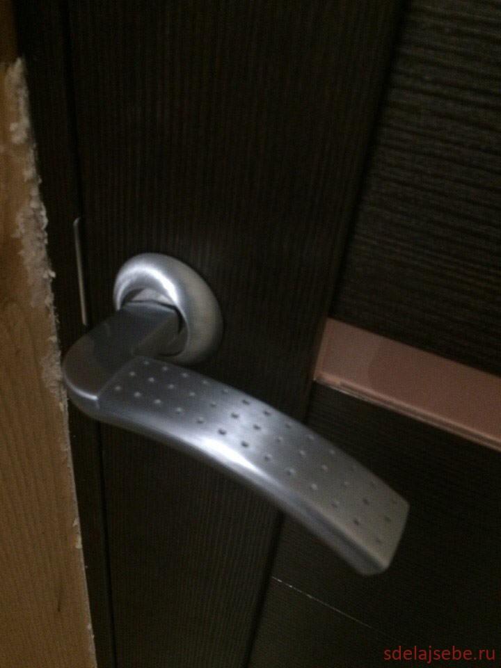 Установка дверной речки LD26 для межкомнатной двери.