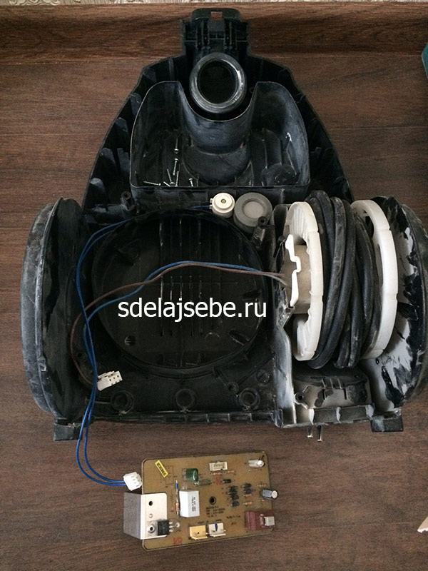 Ремонт и замена двигателя пылесоса самсунг