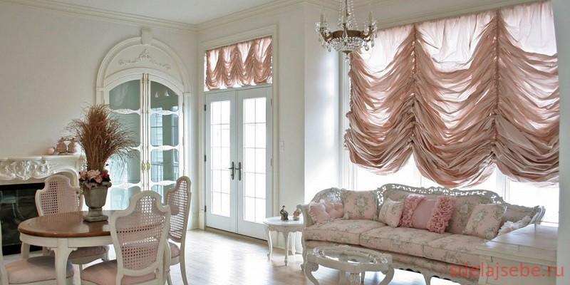Французские шторы дома1