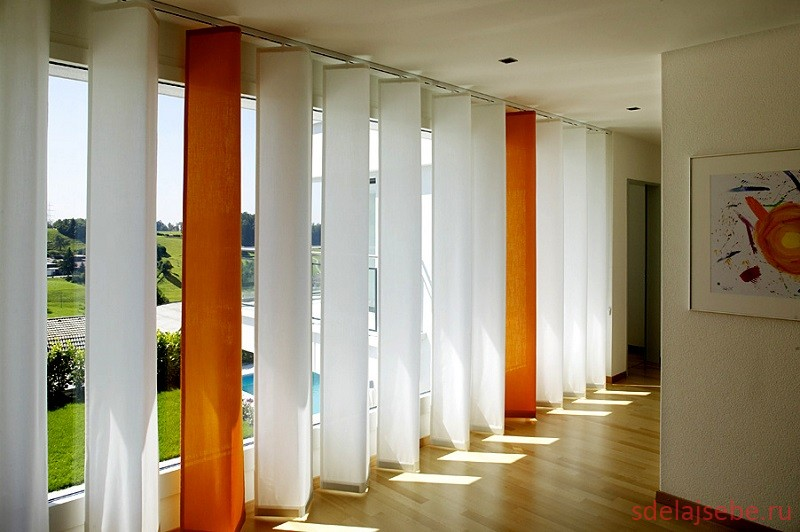 Японские шторы пример