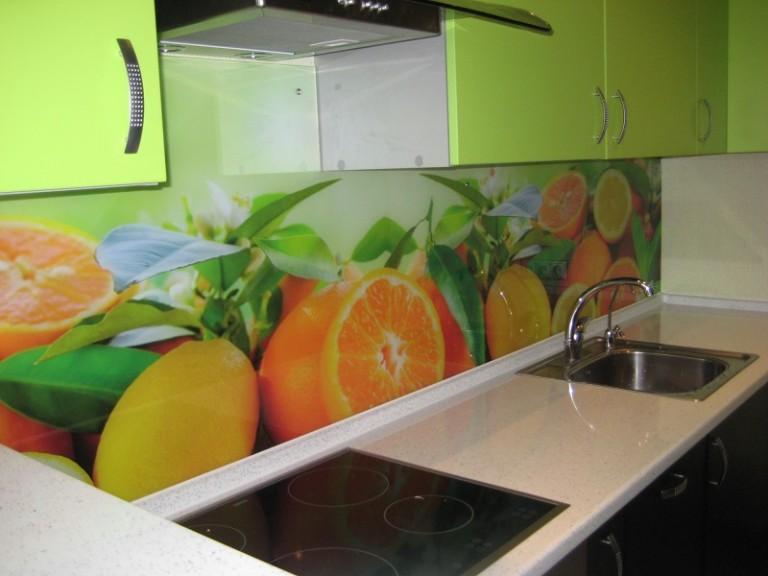 Стеклянные фартуки на кухню с фотопечатью цена