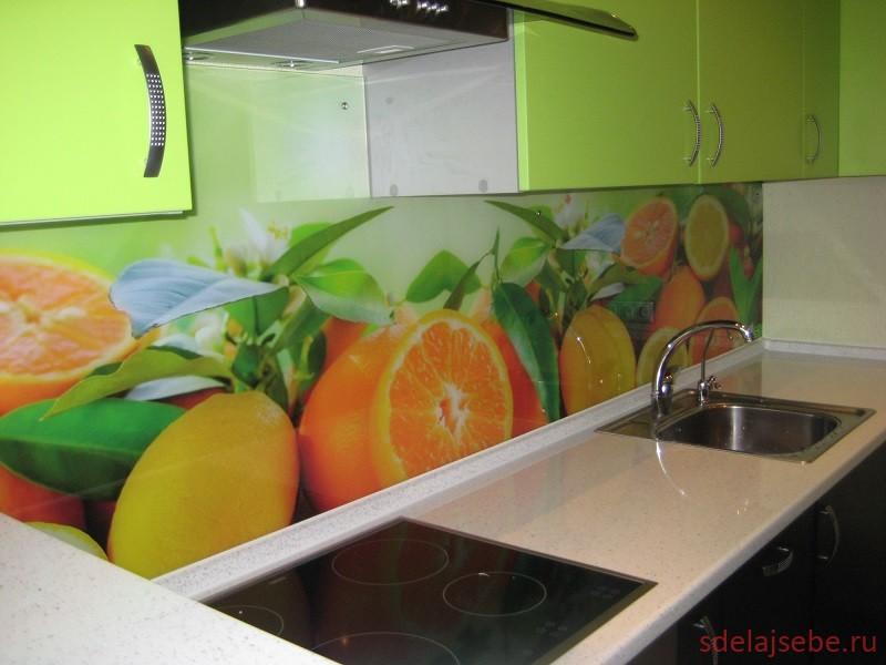 фартук для кухни под стекло