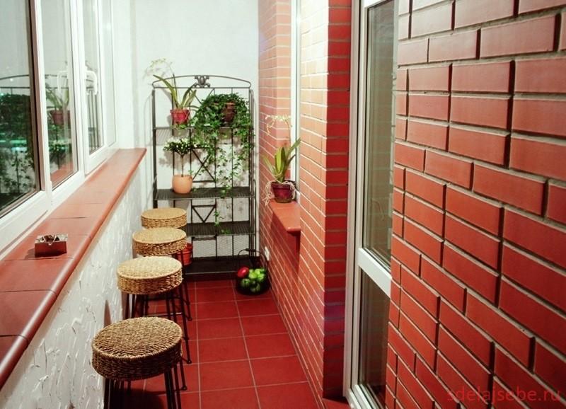 интерьер балкона лоджии