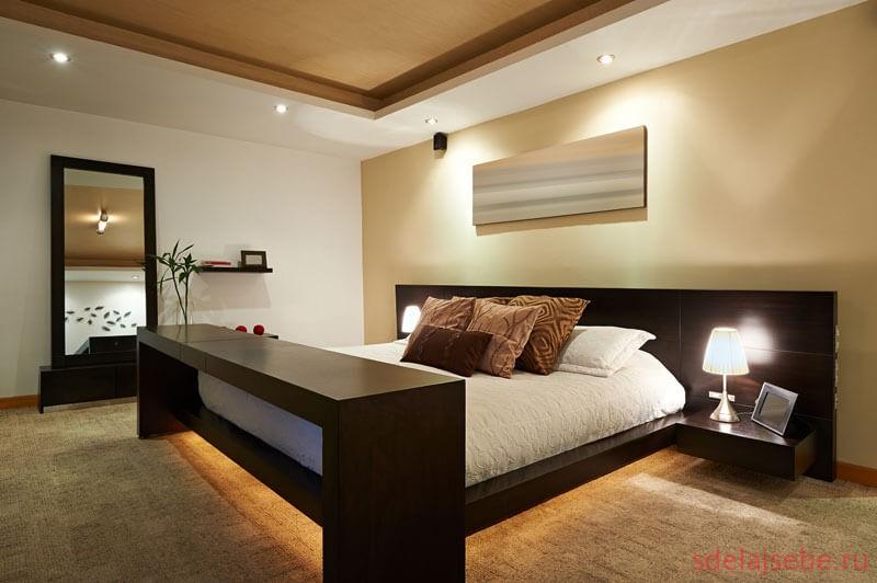 спальня с подстветкой