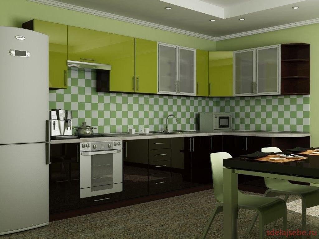 зеленая кухня дизайн