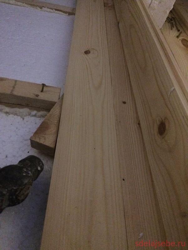 Устраняем щели в деревянном полу из шпунтованной доски