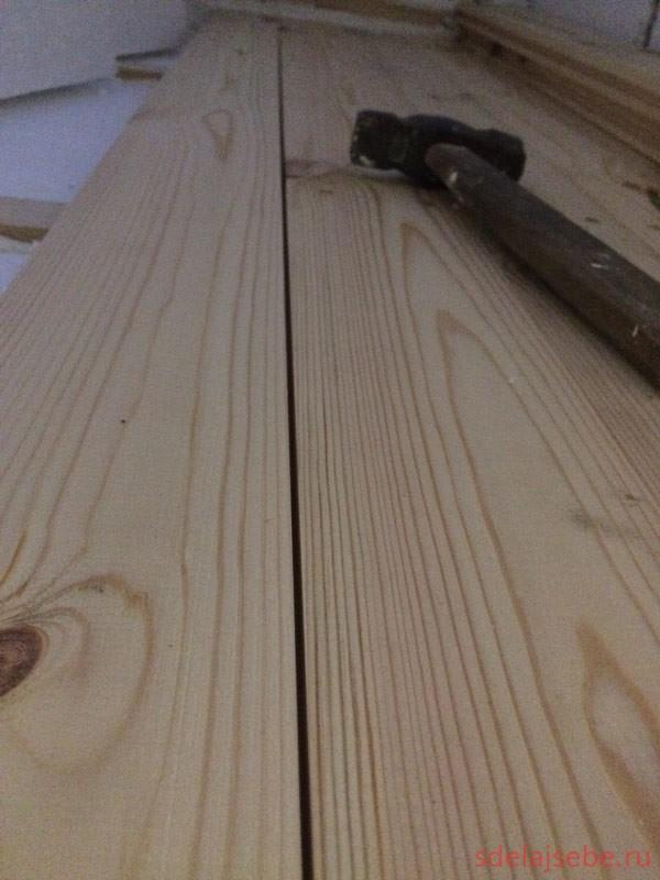 Устраняем щели в деревянном полу