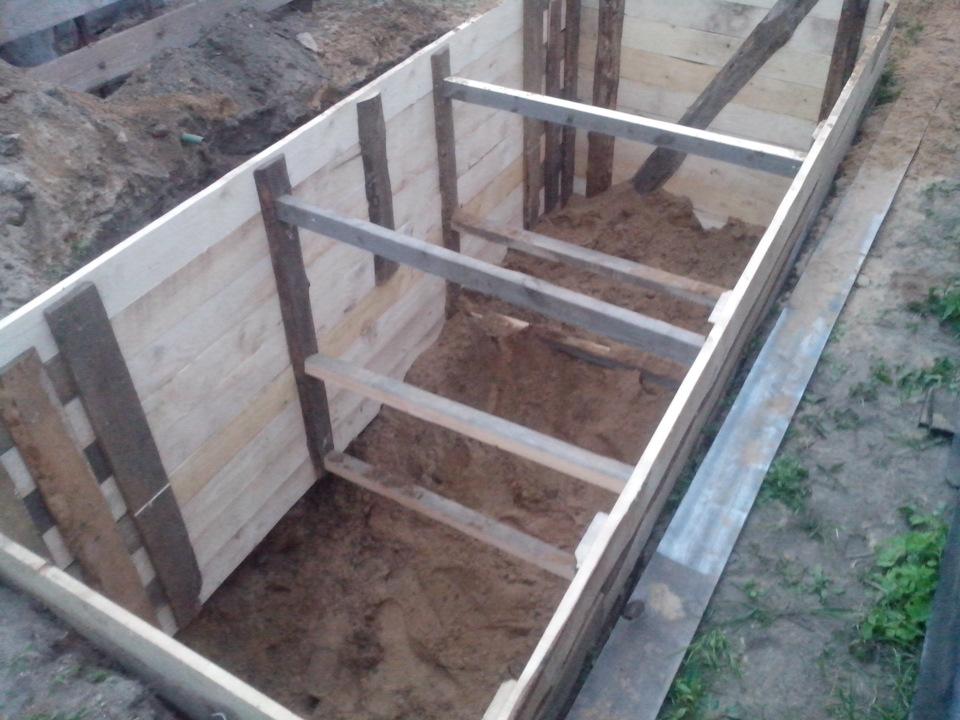 опалубка для смотровой ямы и для фундамента кирпича