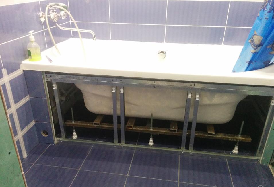 Разборный экран для акриловой ванны