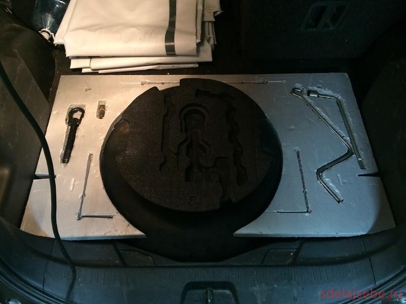 сравление оригинального пенала в багажник от тойота рактис