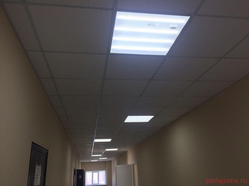 светильники в потолок армстронг 600х600