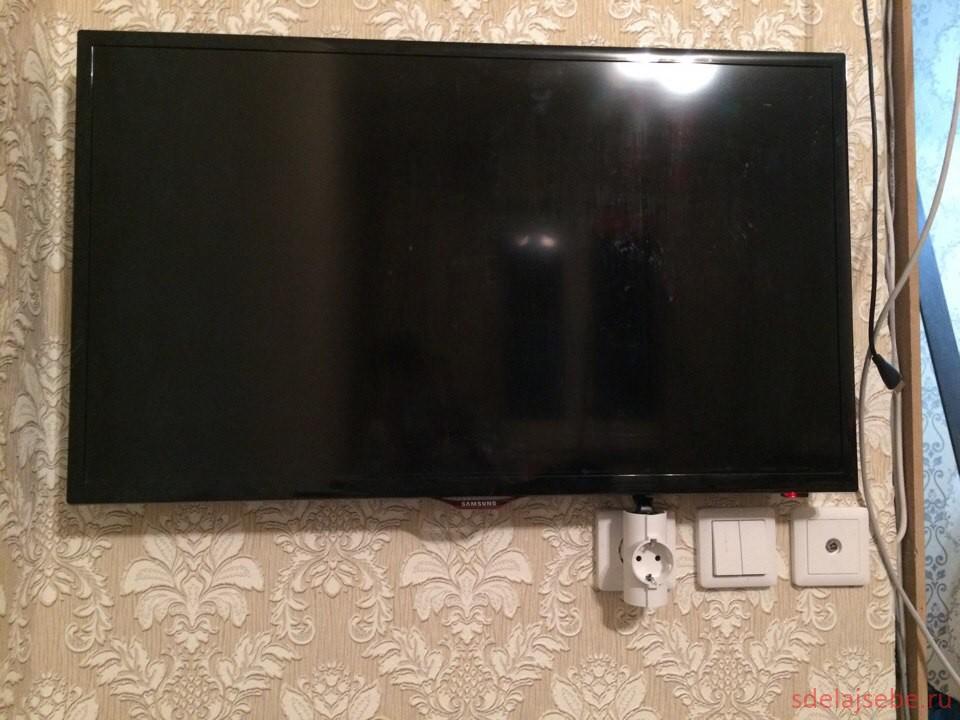 повесил телевизор на стену как спрятать провода