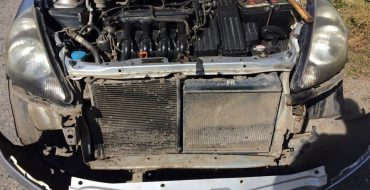 забитый радиатор хонда фит, перегрев двигателя
