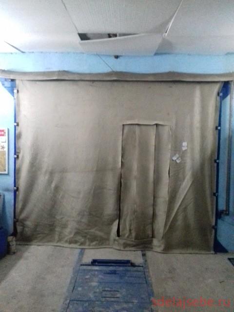 брезентовые шторы в гараж на ворота, как правильно повесить