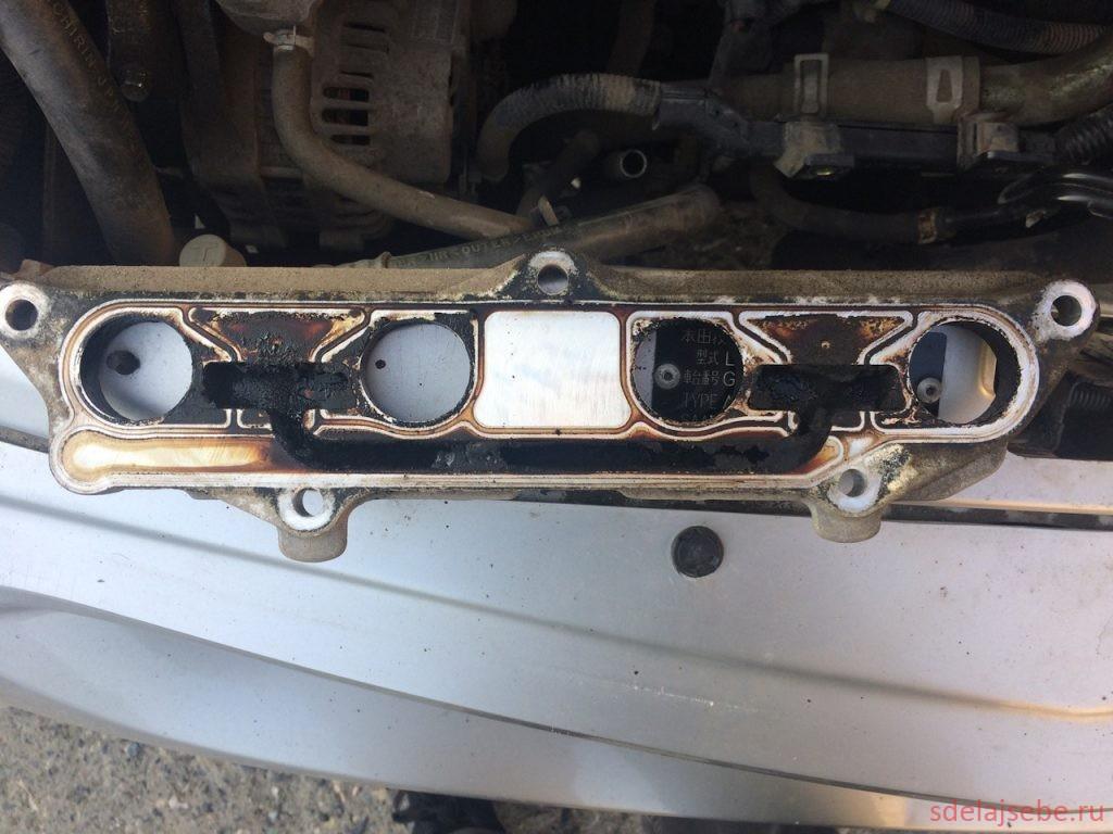 чистка плиты ЕГР в хонда фит своими руками