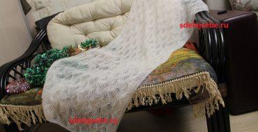 вязание спицами шали палантины схемы и описания