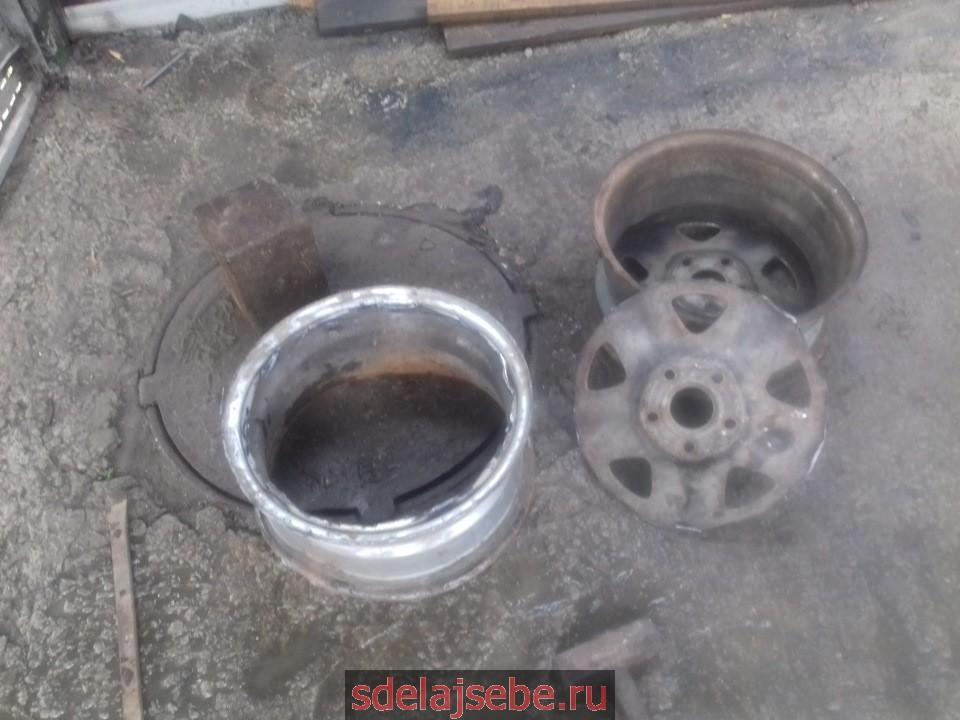 варим печь из авто дисков