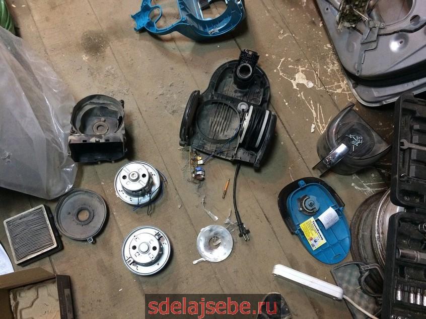 замена двигателя в пылесосе Samsung SC4475