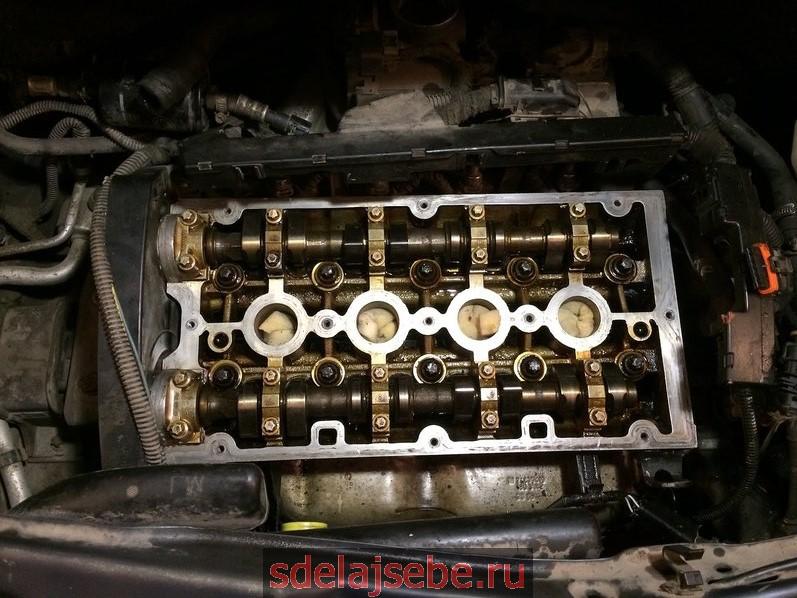 замена прокладки на двигателе опель z16xep