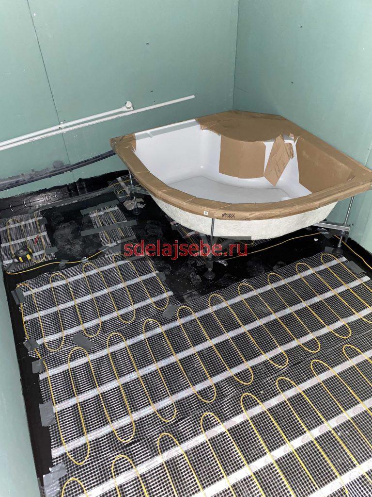 теплый пол под керамогранит, подготовка к укладке плитки