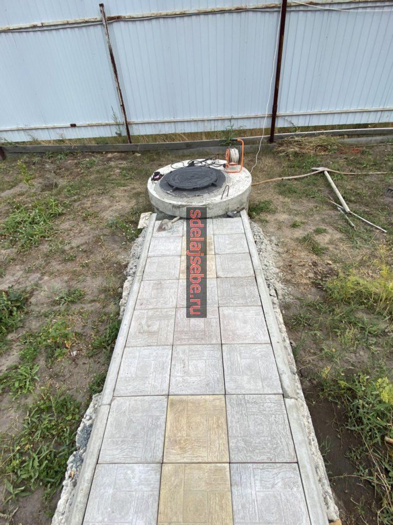 Люк для колодка у тротуарной плитки