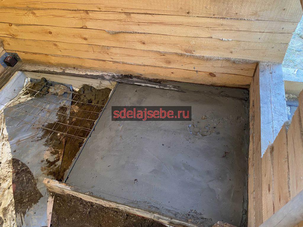 фундамент под печь скала порта для бани